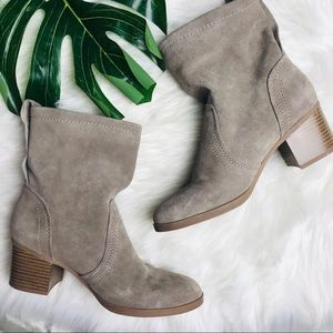 Canyon river blues suede Savannah booties